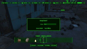 Fallout 4 Guide - Scraping Inventory Items