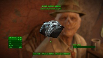 Fallout 4 - The Silver Shroud - Receive Costume