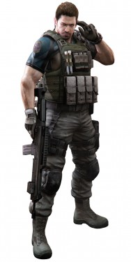 Chris Redfield before the magical transformation or illness that we are unaware of