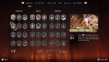 Skill tree in horizon zero dawn