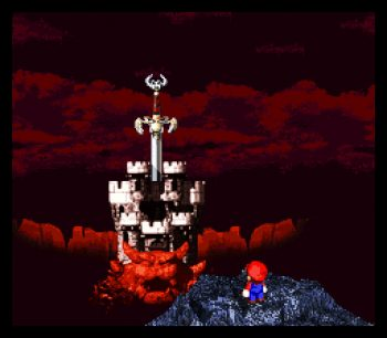 Mario at Bowser's Castle