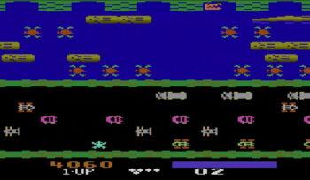 Atari 2600 Frogger gameplay