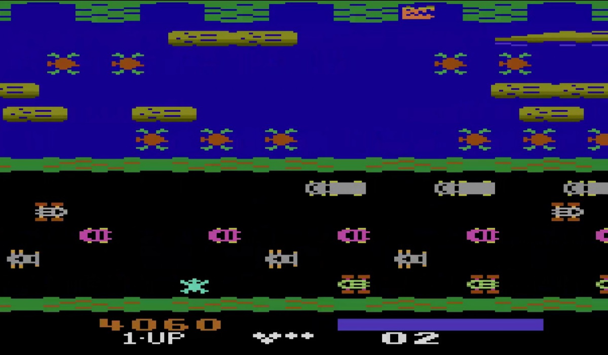 Atari 2600 Frogger gameplay