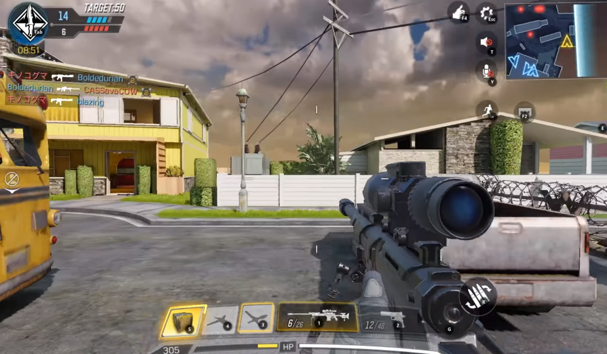 Call of Duty Mobile gameplay sniper