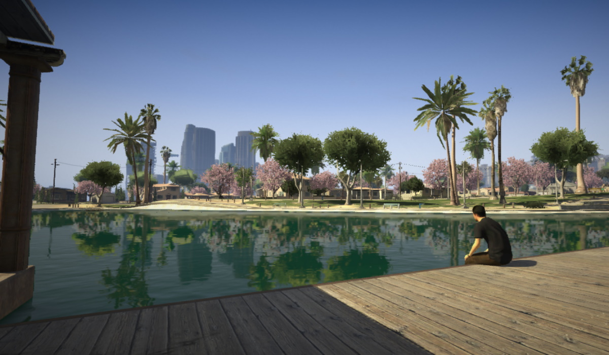 GTA V park screenshot