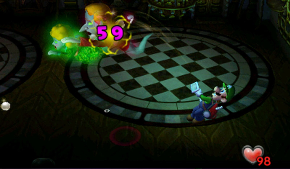 Luigi's Mansion original gameplay