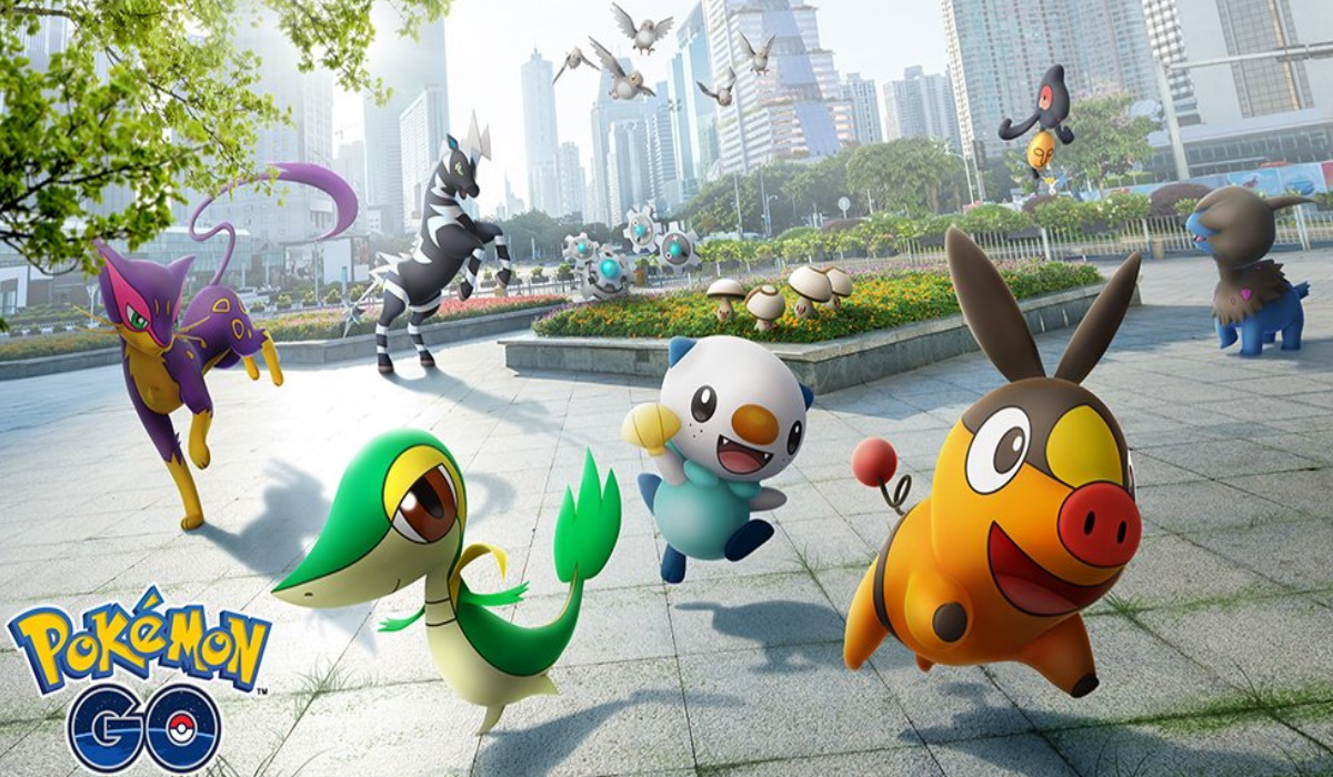 Pokémon GO city screenshot