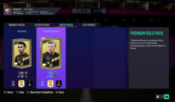 EAGate FIFA 21 pack screen
