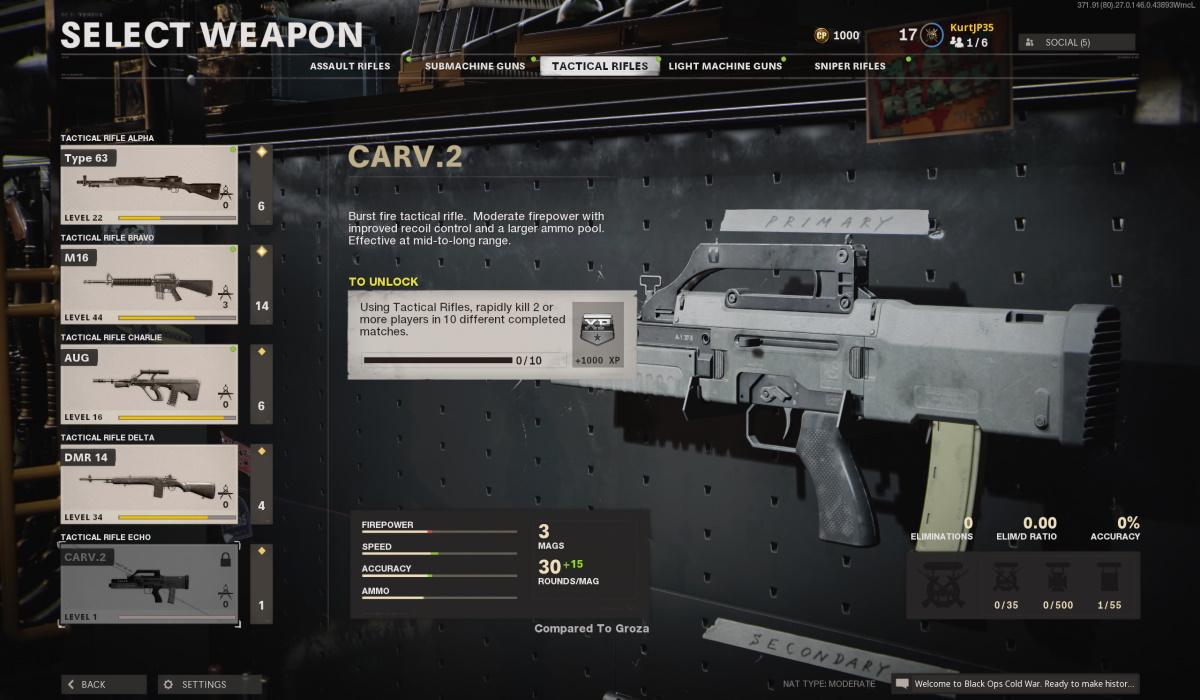 Carv 2 black ops cold war unlock challenge