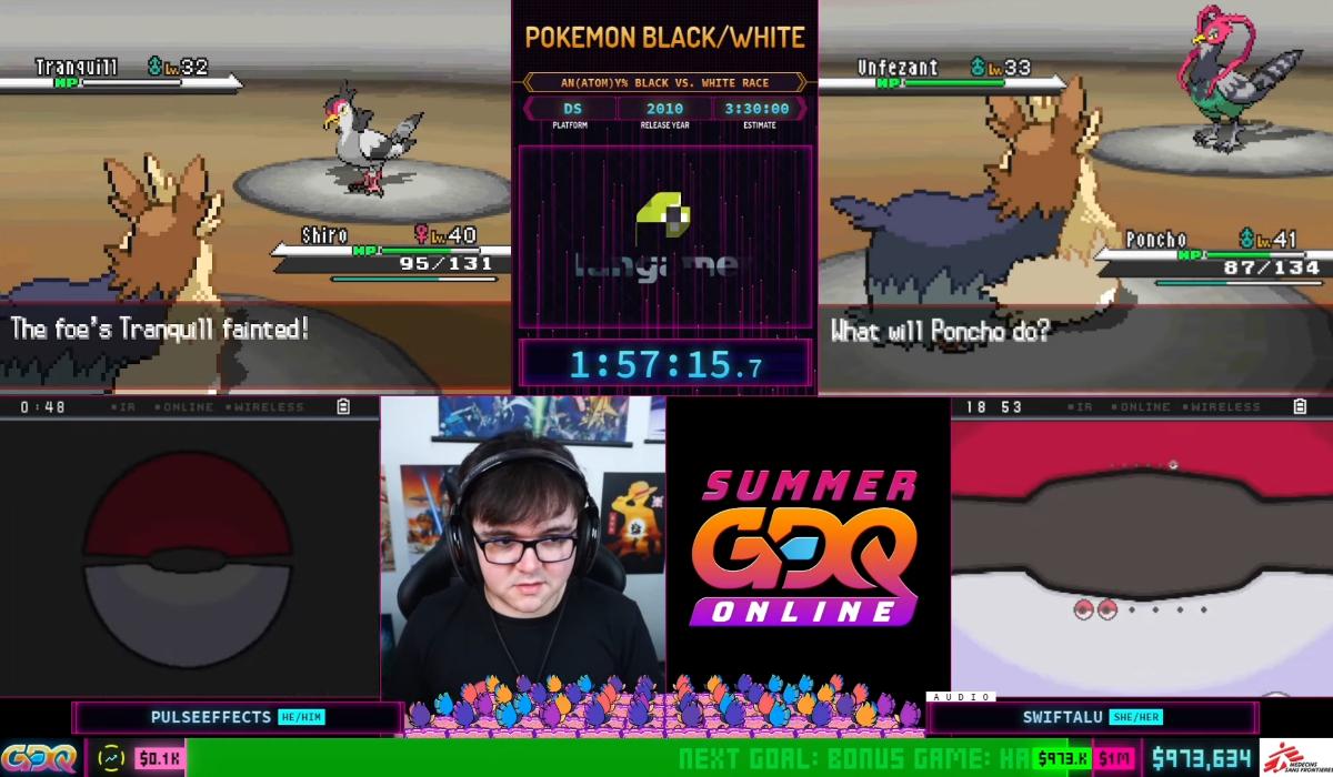 games done quick summer pokemon black race