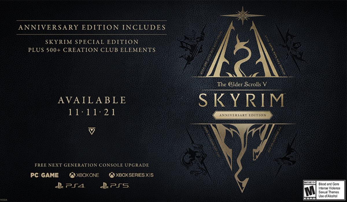 Elder scrolls v skyrim anniversary edition details