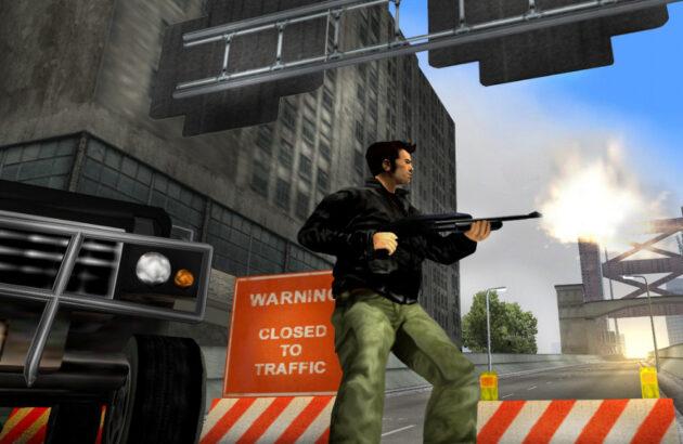 take-two remasters gta 3 shotgun gameplay