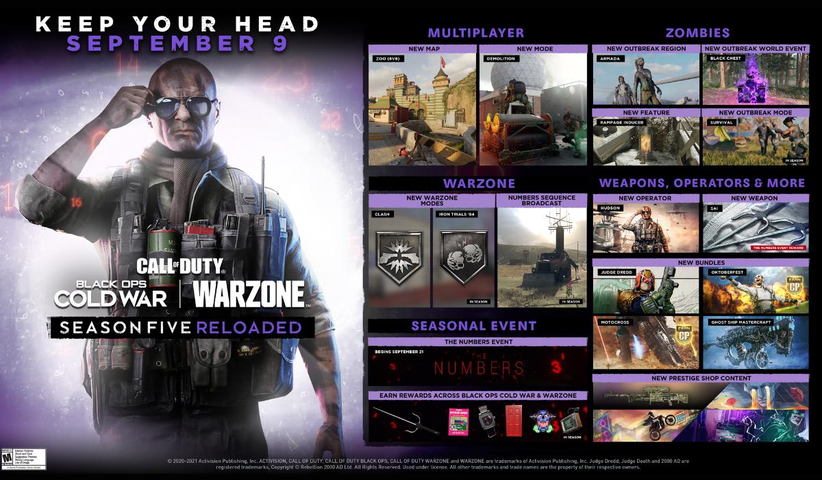 warzone judge dredd season 5 reloaded roadmap